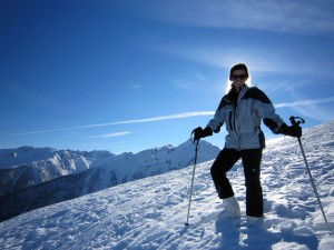Stephanie on the Alps